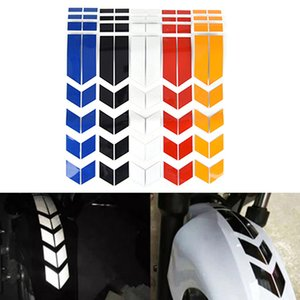 34*5.5cm Motorcycle Tape Reflective Stickers Wheel Car Decals On Fender Waterproof Warning Safety Film Decoration Free DHL