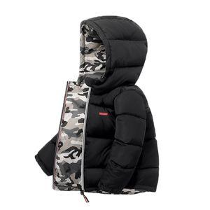 Мальчики Зимние Дети Детские Детские Детские Куртки Детская Куртка Парку для Девушки Камуфляж Носимый на обеих сторонах Детская Одежда
