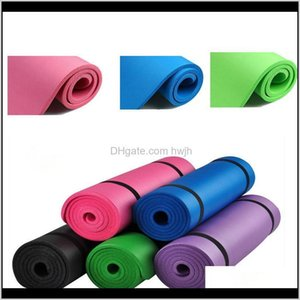 Wholesalecolourful Yoga Mat Forfitness Non Slip For Man Girl Gym Sport Dance Losing Weight Folding Pad Mats 10Mm 5 Colour Pdyrz Rd0Uj