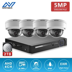 H.265 4CH DVR System 4PCS 5MP Outdoor Weatherproof Security Camera Home Dome CCTV Video Surveillance Kits Wireless