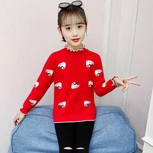 Pullover Girls Sweater Baby's Coat Outwear 2021 Princess Plus Velvet Thicken Warm Winter Autumn Knitting Jacket Children's Clothing