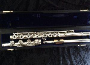 Powell Handmade flute SILVER OPEN-HOLE FLUTE - INLINE G & B-FOOT 17 Holes Open Gold Mouth