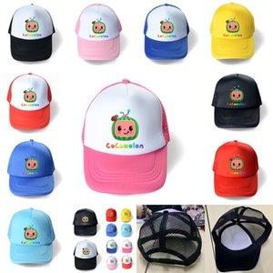TIKTOK Kids Designer Mesh Ball Hat Cocmalon JJ Baseballkappen Sport Snapback Einstellbare Sommer Cartoon Visier Jungen Mädchen Sport Strand Casual Hüte G49RGU7
