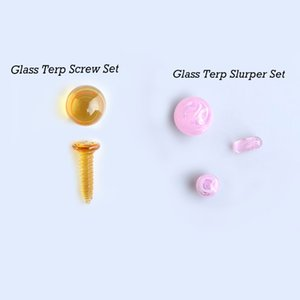 2 Types Smoking Accessories Glass Dab Pearls With 20mm &12mm Colorful Bead Balls & Screw &Pill Suit For Terp Slurper Quartz Banger