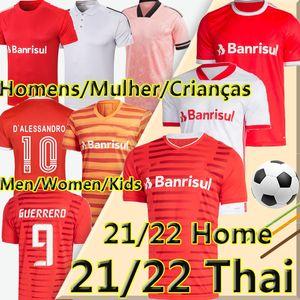SC Internacional كرة القدم جيرسي 21 22 camisetas قيريرو t.galhardo d'alessandro الرجال النساء الاطفال كيت masculino feminino infantil كرة القدم قميص الزي الرسمي
