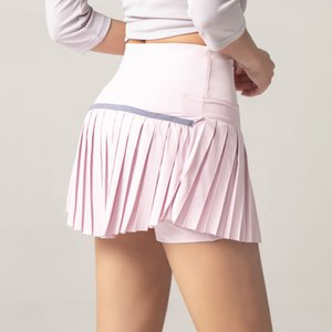 Women 2 In 1 Pleated Skirt Running Shorts Gym Fitness Quick Dry Tennis Sport Yoga Clothes DK09 free ship