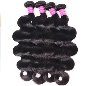 4PCS Hair Bundles Natural Black Human Hair Extensions wholesale price for woman Remy Brazilian Straight Hair Body Wave