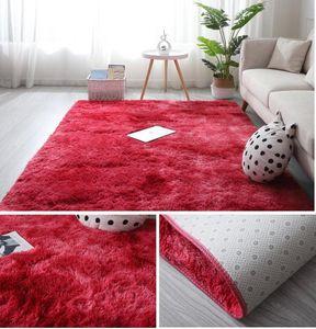 Carpets Gradient Soft Carpet Non-slip Mat Area Rug For Living Room Fluffy Child Bedroom Alfombra