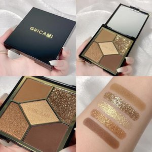 Eye Shadow Highly Pigmented 5 Color Nude Glitter Matte Pearlecent Pan Sombras Shimmer Eyeshadow Palette