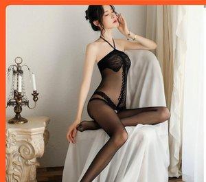 Meinaier Iç Çamaşırı kadın Dantel Üniforma Seksi Sutyen Açık Dosya Tek Parça Eğlenceli İpek Çorap