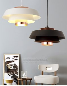 Nordic Style Pendent Lamp Post Modern Simple Restaurant Bar Creative light Led Lamps and lanterns Iron Chandelier Black White