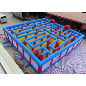 portable outdoor adult kids inflatable maze,10x10m giant inflatable puzzel maze carnival game field