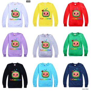 Fashion Kids Cocomelon T-shirt Cartoon Design Boys Girls Round Neck Sweater Children Spring Summer Cany Color Hoodie Toddler Baby Pullover G49NKA7