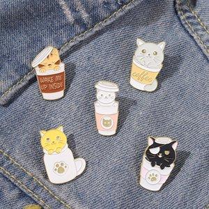 Water Cup Cute Cat Enamel Pins