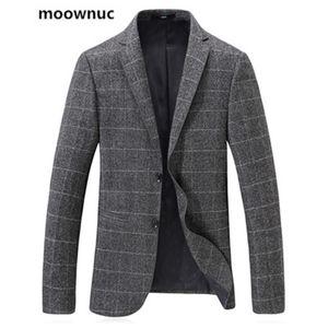 Мужские костюмы Blazers Moowuc поступление 2021 мужской однобортный пиджак тощий осенний воротник костюм мода куртки пальто для человека