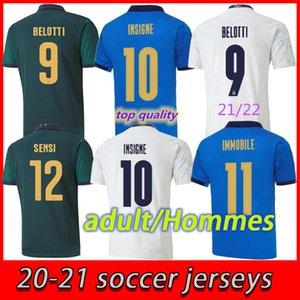 Euro Cup 2021 Jerseys de futebol Home Away Jorginho El Shaarawy Bonucci Insigne Bernardeschi Adulto Homens Futebol Camisas