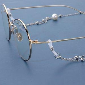 Gioielli perla nappa occhiali lunghi in metallo perline catena maschera accessori fissi YDSF