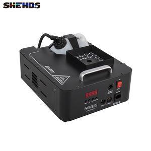 SHEHDS Stage Lighting 1500W LED 24x9W RGB Color LEDs Smoke Machine Fogger Hazer Equipment For DJ KTV