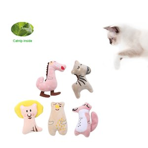 Cat plush toy catnip animal shape embroidery puppet toy chewing sound accessories pet kitten molar interactive