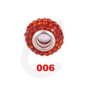 Blanco 10 mm * 12 mm Resina Rhinestone blanco plateado Core Big Hole Agujero Def Crystal European Beads, mejores cuentas sueltas Hallazgos de la joyería. 125 w2