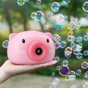 Tiktok Stall Same Style Pig Camera Bubble Machine Toys Childrens Automatic Electric Bubble Blowing Gun Girl Heart Factory Direct Sales