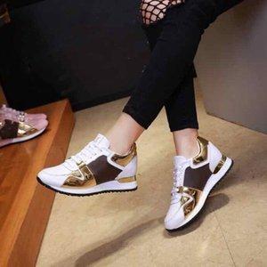 Мода Девушки повседневные спортивные туфли Старшие навесные Обувь кроссовки