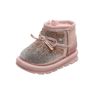 12-15.5CM Ears Bling Infant Twinkle Winter Baby Toddler Girl Snow Boots Soft Plush Shoes Anti-slip 11
