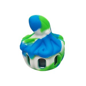 Waxmaid wholesale octopus Shaped silicone glass dab bowl smoking accessories wax jar six colors with a gift box package ship from CA local warehouse