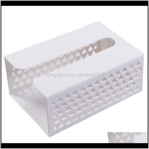 Boxes Napkins Table Decoration Accessories Kitchen, Dining Bar Home & Garden Drop Delivery 2021 Rack Without Punching Tissue Paste-Type Wall-