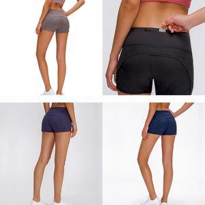 yoga short new through high waist women yoga shorts solid sports gym sport breeches leggings Elastic Fitness Lady run speed short yogaworld