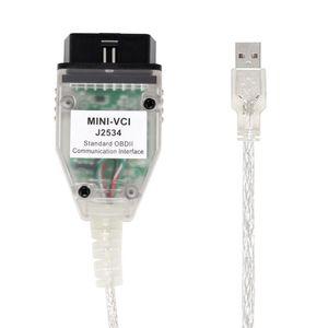 RL Car Diagnostic Cables أحدث إصدار V13.00.022 ل To-Yota J2534 K + DCAN يدعم K-Line Mini-VCI HW2.0.4 FT232RL @ 2 أدوات