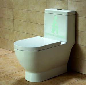 Bathroom Pcs 1 Toy Toilet Room Thinking Downloading Luminous Glow in the Dark Wall Stickers Toys Mai3