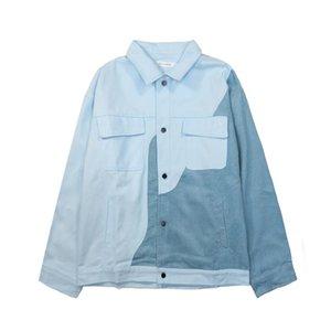 Women's Jackets Women Fashion Splice Corduroy Loose Casual Streetwear Hip Hop Harajuku Boyfriend Jacket Coat Men Outerwear Spring Autumn W31