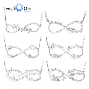 Jewelora 925 Sterling Silver Personalized Infinity Name Necklaces Women Custom Made Nameplate Bff Pendant Gifts for Mother