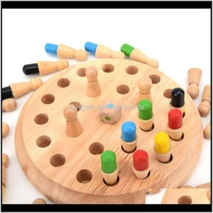 Outdoor Activities Kids Party Game Wooden Memory Match Stick Chess Fun Block Board Games Educational Color Cognitive Ability Toy For C Huf40