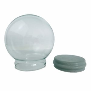 Novelty Items DIY Gifts Snow Globe Accessories Empty Glass Ball With Rubber Plug Display Dome D45mm 65mm 80mm 100mm 120mm 150mm