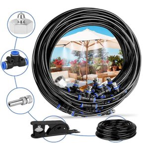 Pool & Accessories 10-20m Water Misting Cooling System Set Mist Sprinkler Nozzle For Outdoor Garden Patio Greenhouse Plants Spray Fog Hose W