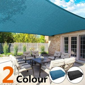 PE Camping Canopy Tent Shelter Awning Moisture Proof Waterproof Portable Camp Travel Outdoors Blue Practical Sun Shade Screen