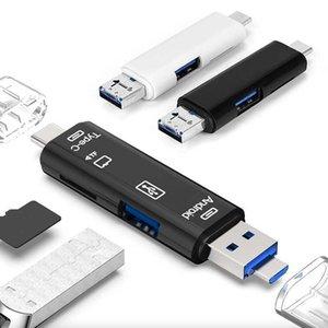 Random One Usb 2.0 Card Reader Adapter Type C USB Micro USB Memory TF OTG Card Reader