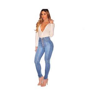 Джинсы сексуальные женские джинсы с высокой талией и ягодицами