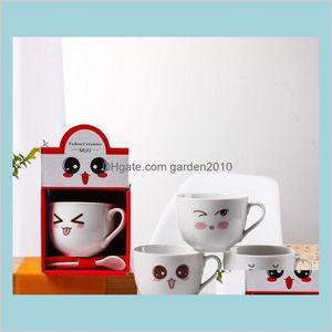 Mugs Drinkware Kitchen, Dining & Bar Home Garden Creative Ceramic Cups Advertising Promotional Gifts Coffee Custom Logos Sn1996 Drop D
