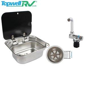 Parts TopwellRV Top Rated Caravan Interior Accessories Washroom Sink Stainless Steel RV Kitchen