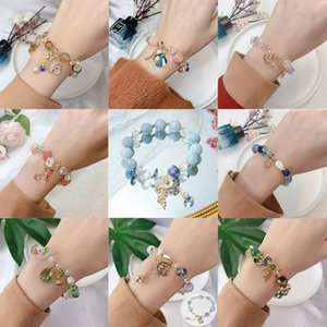 Charm Bracelets Arrival Flower Leaf Orange Purple Blue Green Stone Beads Strand For Women Girls Fashion Jewelry