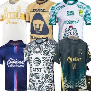 LIGA MX 21 22 MESSICO Club America America Soccer Jerseys Leon Than Away Home 2021 2022 Camisetas Tigres Unam Chivas Cruz Azul 3rd Allenamento Camicie da calcio Maillot de Piede