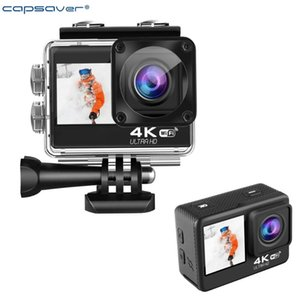 Telescopes Capsaver 4K Action Camera Waterproof Outdoor Sports Anti-shake WIFI DV Helmet Cam Camcorder For Video Vlog Po