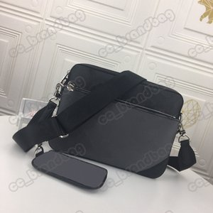 Trio Messenger Shoulder Bag Two-in-on High Quality Leather Bussiness Bags for Men Day Clutch Daily Package Purse