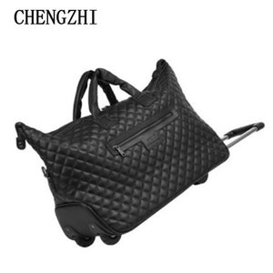 """Suitcases CHENGZHI 18"""" Inch Carry On Women Hand Luggage Boarding Cabin Travel Trolley Bag Wheels"""