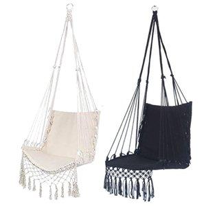 Hängemattenstuhl Macrame Swing Hanging Cotton Seil Hängematte Swing Chair für Innen- und Außeneinsatz