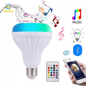 RGBW LED Bulb Bluetooth Speaker E27 Smart Music Play Bulbs Colorful Lights with 24 Keys Remote For Bar Home KTV Party Decor