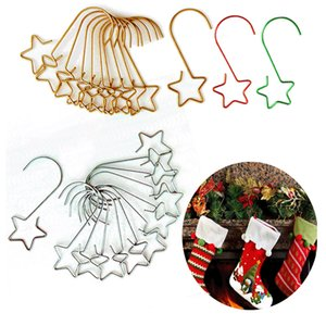 Christmas Ornament Hooks Xmas Tree Decoration Hanger Hook Lovely Star-Shaped For Gift And Home Party Welcome New Year GWB10627